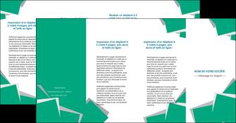 imprimerie depliant 4 volets  8 pages  texture contexture structure MIF50245