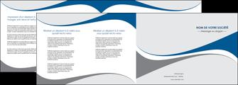 exemple depliant 4 volets  8 pages  texture contexture structure MLIG50505