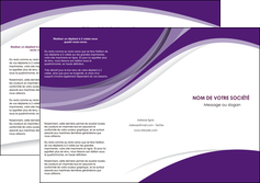 faire depliant 3 volets  6 pages  texture contexture structure MLIG50759