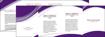 realiser depliant 4 volets  8 pages  texture contexture structure MIF50789