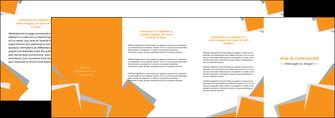 modele depliant 4 volets  8 pages  texture contexture structure MLIG50865