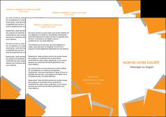 personnaliser modele de depliant 3 volets  6 pages  texture contexture structure MIF50881
