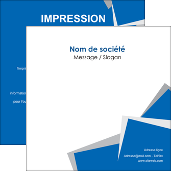 Impression confection prospectus  papier à prix discount et format Flyers Carré 14,8 x 14,8 cm