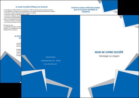 imprimer depliant 2 volets  4 pages  texture contexture structure MIS50919