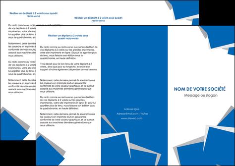 faire modele a imprimer depliant 3 volets  6 pages  texture contexture structure MLGI50933