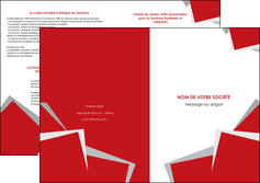 faire modele a imprimer depliant 2 volets  4 pages  texture contexture structure MIF51021