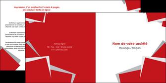 imprimerie depliant 2 volets  4 pages  texture contexture structure MIF51031