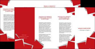 faire depliant 4 volets  8 pages  texture contexture structure MIF51063