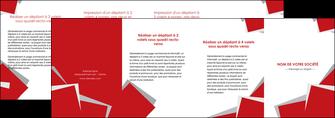 modele depliant 4 volets  8 pages  texture contexture structure MIF51065