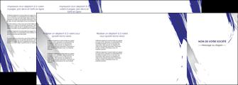 realiser depliant 4 volets  8 pages  texture contexture structure MLGI51457
