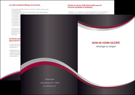 modele depliant 2 volets  4 pages  texture contexture structure MIF51487