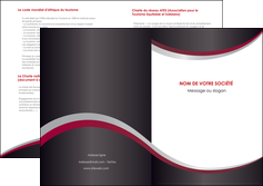 modele depliant 2 volets  4 pages  texture contexture structure MLIG51487