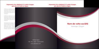 impression depliant 2 volets  4 pages  texture contexture structure MIF51497