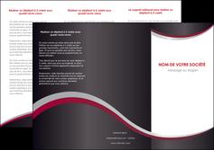 creation graphique en ligne depliant 3 volets  6 pages  texture contexture structure MIF51501