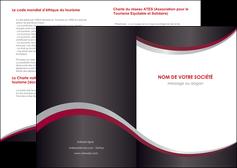 imprimer depliant 2 volets  4 pages  texture contexture structure MIF51521