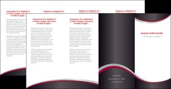 faire depliant 4 volets  8 pages  texture contexture structure MIF51529