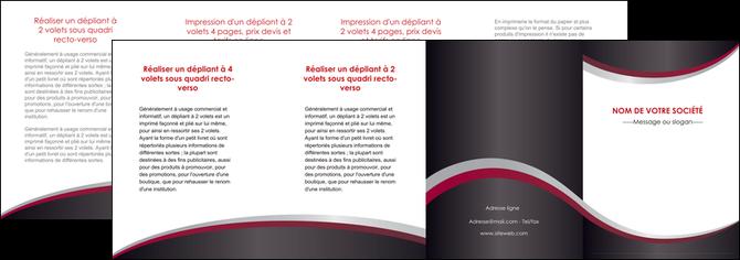 impression depliant 4 volets  8 pages  texture contexture structure MIF51531