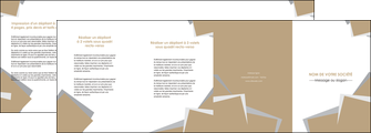 exemple depliant 4 volets  8 pages  texture contexture structure MIF51537