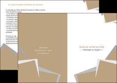 realiser depliant 2 volets  4 pages  texture contexture structure MLGI51541