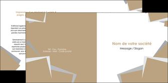 imprimerie depliant 2 volets  4 pages  texture contexture structure MIF51549