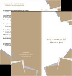 maquette en ligne a personnaliser depliant 2 volets  4 pages  texture contexture structure MIF51551