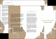 impression depliant 3 volets  6 pages  texture contexture structure MLGI51553