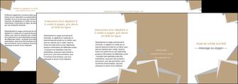 realiser depliant 4 volets  8 pages  texture contexture structure MLGI51583