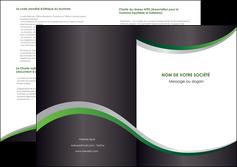 impression depliant 2 volets  4 pages  texture contexture structure MIF51651