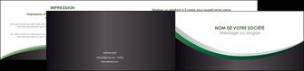 exemple depliant 2 volets  4 pages  texture contexture structure MLIG51655