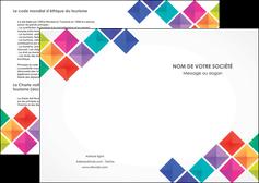 imprimerie depliant 2 volets  4 pages  arc en ciel cube colore MLIG51703