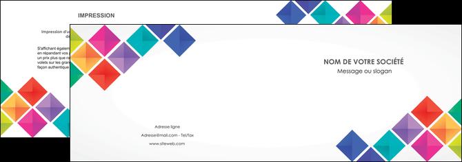 creation graphique en ligne depliant 2 volets  4 pages  arc en ciel cube colore MLGI51713