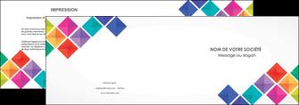 creer modele en ligne depliant 2 volets  4 pages  arc en ciel cube colore MLIG51715
