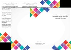 realiser depliant 3 volets  6 pages  arc en ciel cube colore MLIG51723