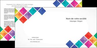 personnaliser modele de depliant 2 volets  4 pages  arc en ciel cube colore MLIG51727