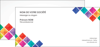 maquette en ligne a personnaliser carte de correspondance arc en ciel cube colore MLIG51735