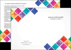 imprimer depliant 2 volets  4 pages  arc en ciel cube colore MLIG51737