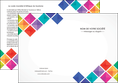 imprimer depliant 2 volets  4 pages  arc en ciel cube colore MLGI51737