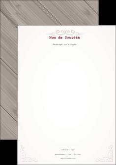 Commander Papier à lettre  papier publicitaire et imprimerie Tête de lettre A4