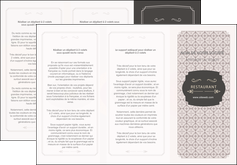 imprimerie depliant 3 volets  6 pages  texture contexture fond MLGI52991