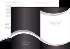 personnaliser maquette depliant 2 volets  4 pages  texture contexture design MIF53299