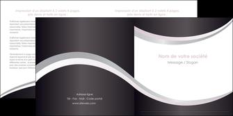 faire modele a imprimer depliant 2 volets  4 pages  texture contexture design MIF53309