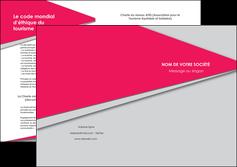 modele depliant 2 volets  4 pages  texture contexture structure MLIG53409
