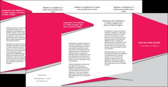 personnaliser modele de depliant 4 volets  8 pages  texture contexture structure MLIG53451