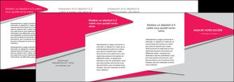 imprimerie depliant 4 volets  8 pages  texture contexture structure MLIG53453