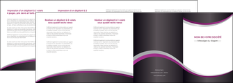 realiser depliant 4 volets  8 pages  texture contexture structure MLGI53615
