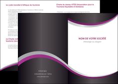 imprimerie depliant 2 volets  4 pages  texture contexture structure MIF53651