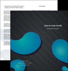 creer modele en ligne depliant 2 volets  4 pages  texture contexture structure MIF53691