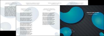 cree depliant 4 volets  8 pages  texture contexture structure MLGI53705
