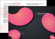 imprimerie depliant 2 volets  4 pages  texture contexture structure MLIG53757