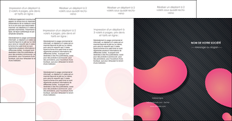 maquette en ligne a personnaliser depliant 4 volets  8 pages  texture contexture structure MLIG53765